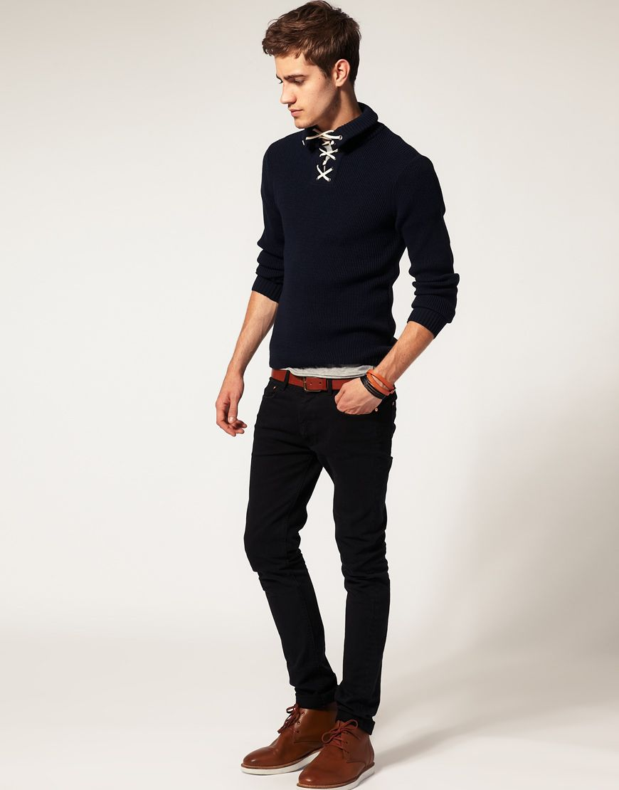 River Island Lace Up Collar Sweater | Fashion - Winter | Pinterest ...