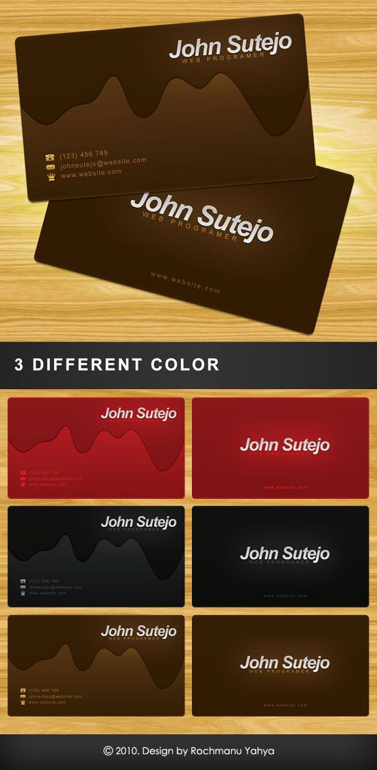 Free Business Card Template Molten Chocolate Free Business Cards Free Business Card Templates Business Card Psd