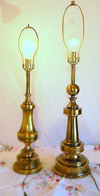 2 vintage hollywood regency ball tall stiffel brass table lamps 2 vintage hollywood regency ball tall stiffel brass table lamps aloadofball Images