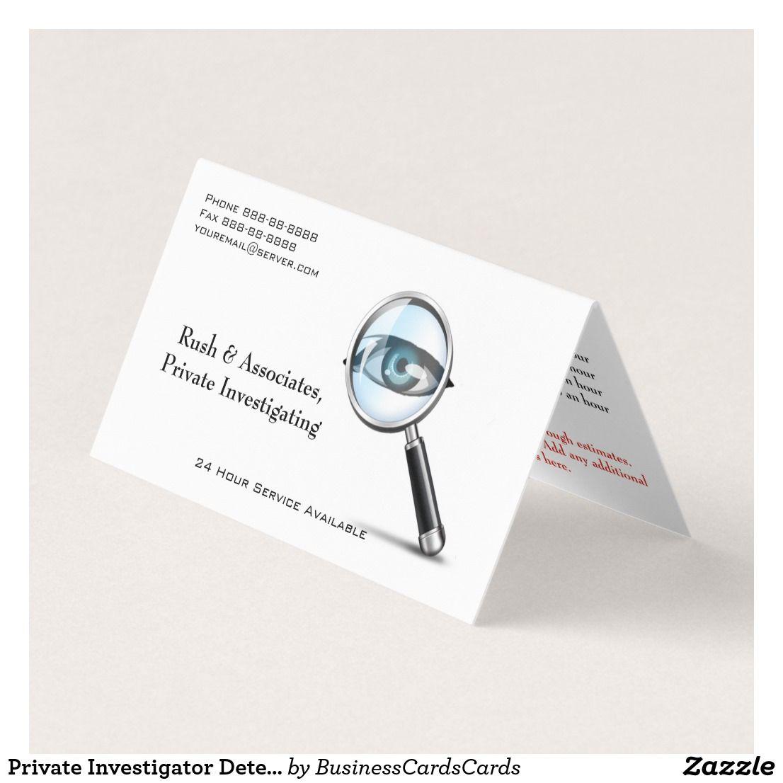 Private investigator detective business card law enforcement private investigator detective business card colourmoves