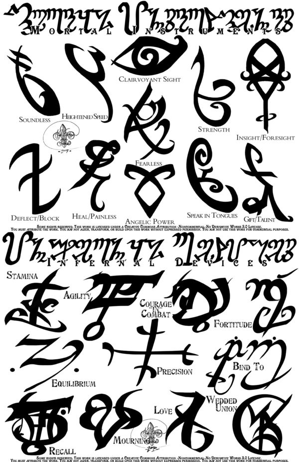 Shadow Hunter Runes And Meanings Shadowhunter Runes Would Be