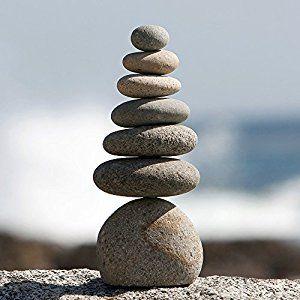 Amazon.com : Natural River Stone Septuple Rock Cairn 7 Stacked Zen Garden Pile Stone : Outdoor Statues : Patio, Lawn & Garden
