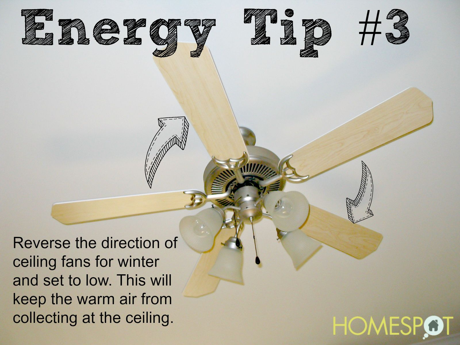Reverse Ceiling Fans And Use The Lowest