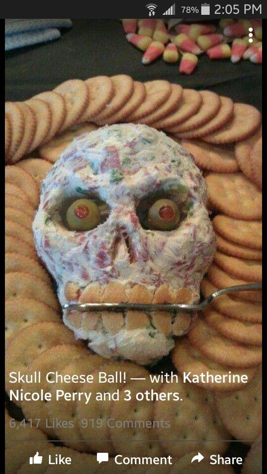 Skull cheeseball