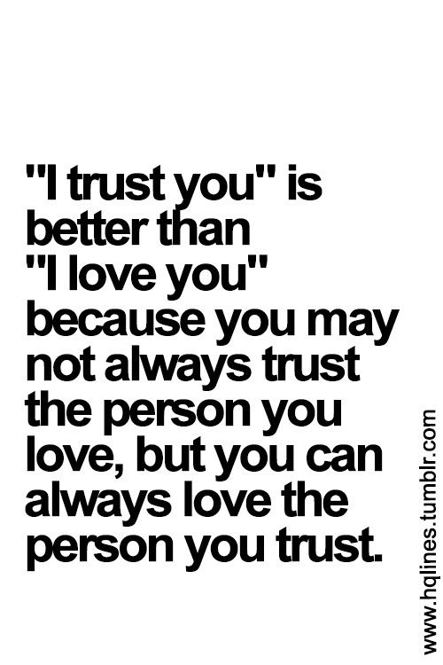 words of trust and love