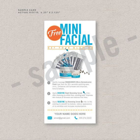 Sample Cards Sample Packs Free Mini Facial Rodan And Etsy Rodan And Fields Business Rodan And Fields Business Template