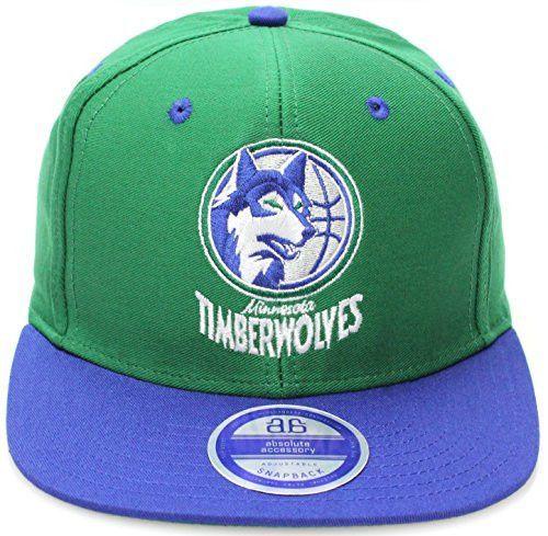 Minnesota Timberwolves Green Blue Two Tone Snapback Adjustable Plastic Snap  Back Hat   Cap d1e28142c5a3