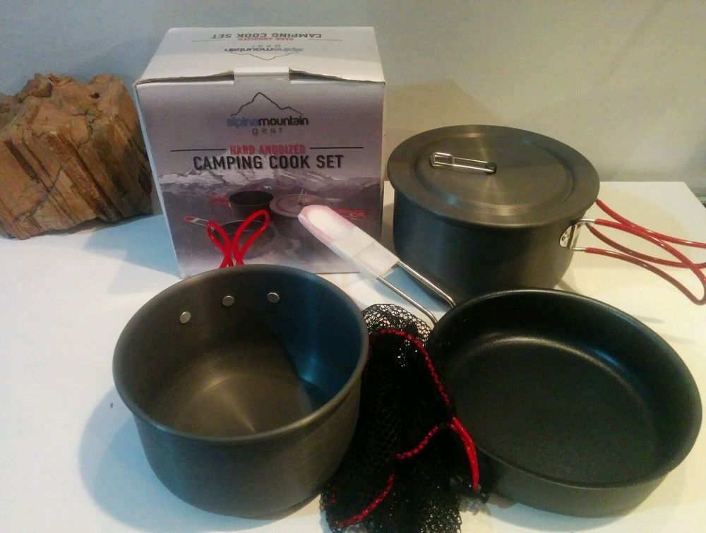 Alpine Mountain Gear Hard Anodized Camping Cook Set ...