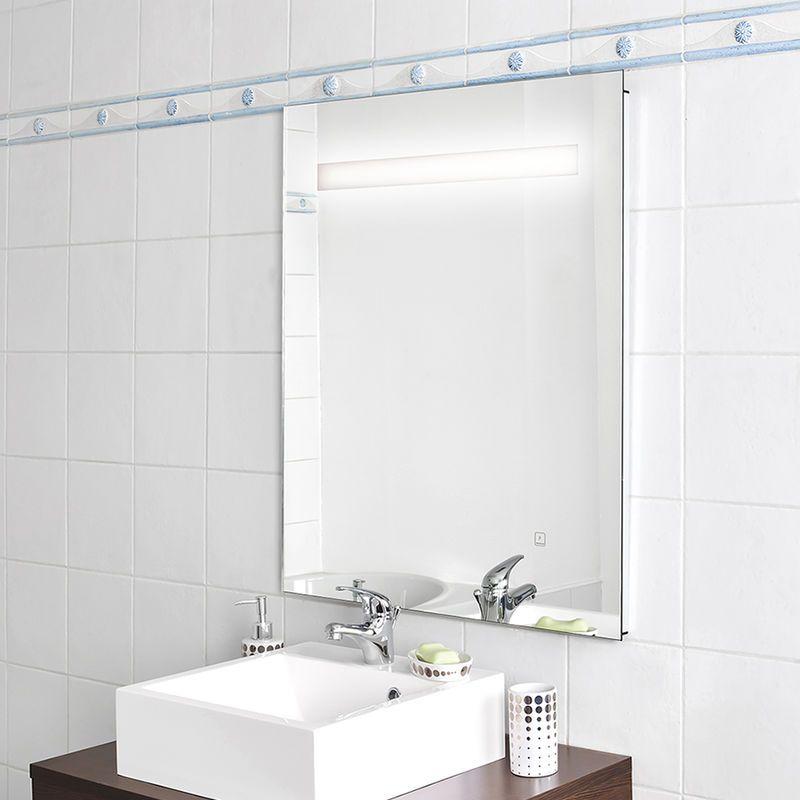 Miroir Elegance 80x80 Cm Eclairage Integre A Led Et Interrupteur Sensitif Vanity Mirror Bathroom Lighting