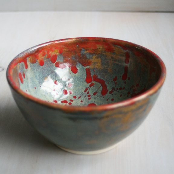 Decorative Ceramic Bowls Decorative Ceramic Bowl Multi Color Artful Handmade Stoneware