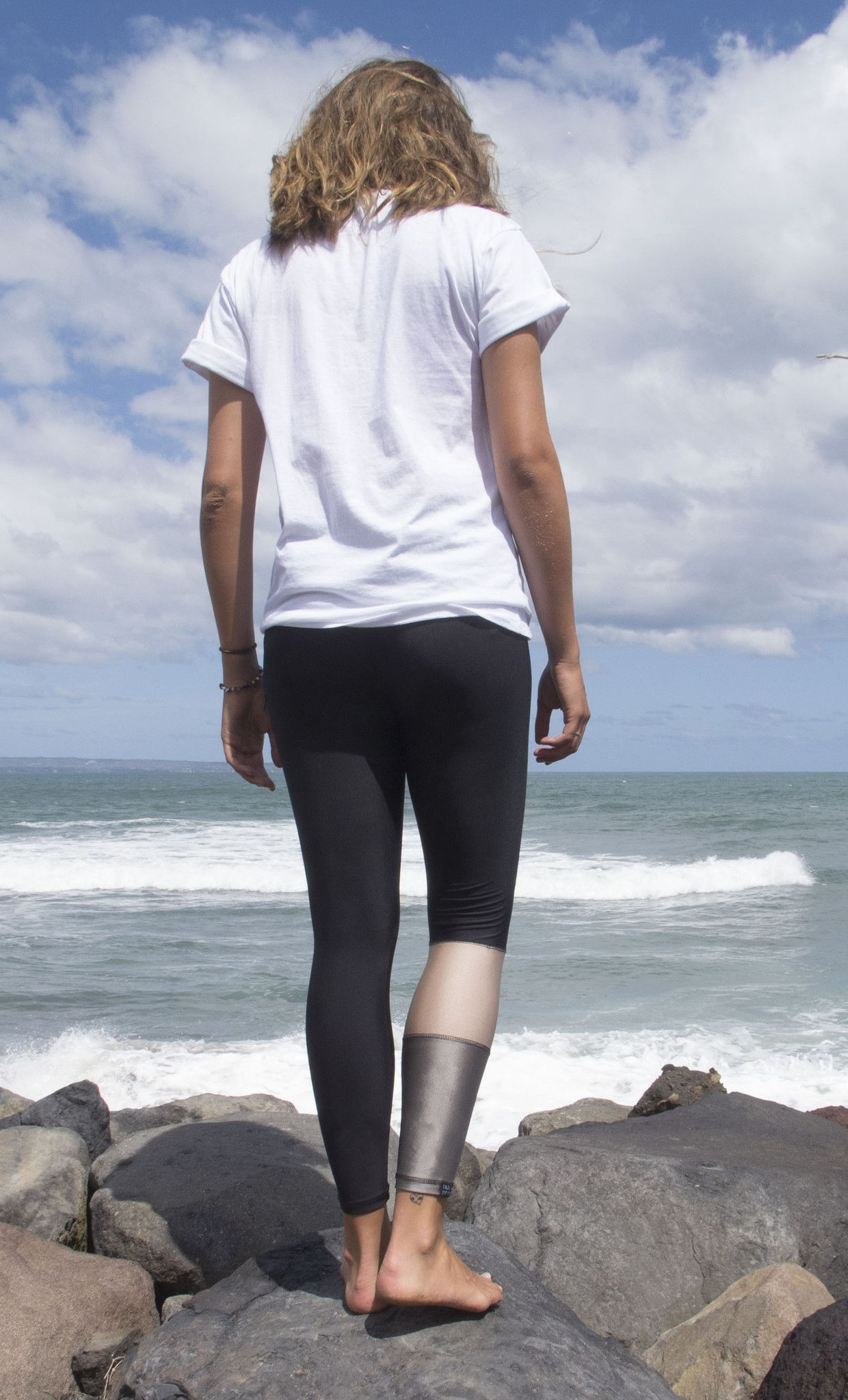 MATT BLACK SURF LEGGINGS - SINGLE LEG