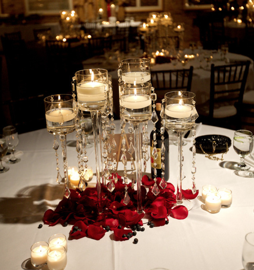 Wedding Centerpieces With Candles: Simply Gorgeous Wedding Reception Ideas