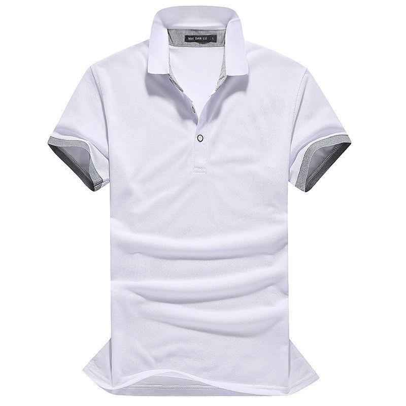 Men's Designer Polos Men Slim Short Sleeve shirt solid jerseys golf