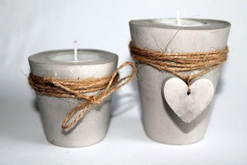DIY Gips / Beton Teelichthalter Herz | Gips, Teelichthalter und ...