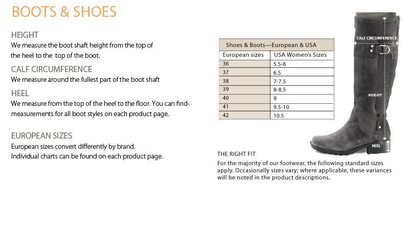Sahalie Shoe Size Chart Shoe Size Chart Shoes Shoe Boots