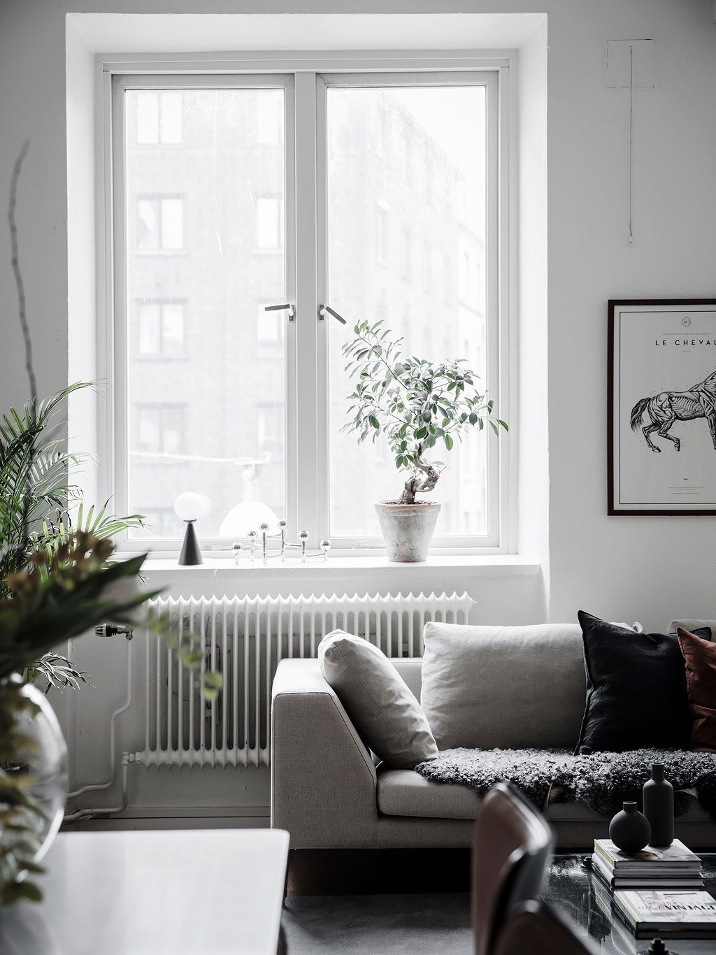 Bright living room with an industrial touch | Industrial, Living ...