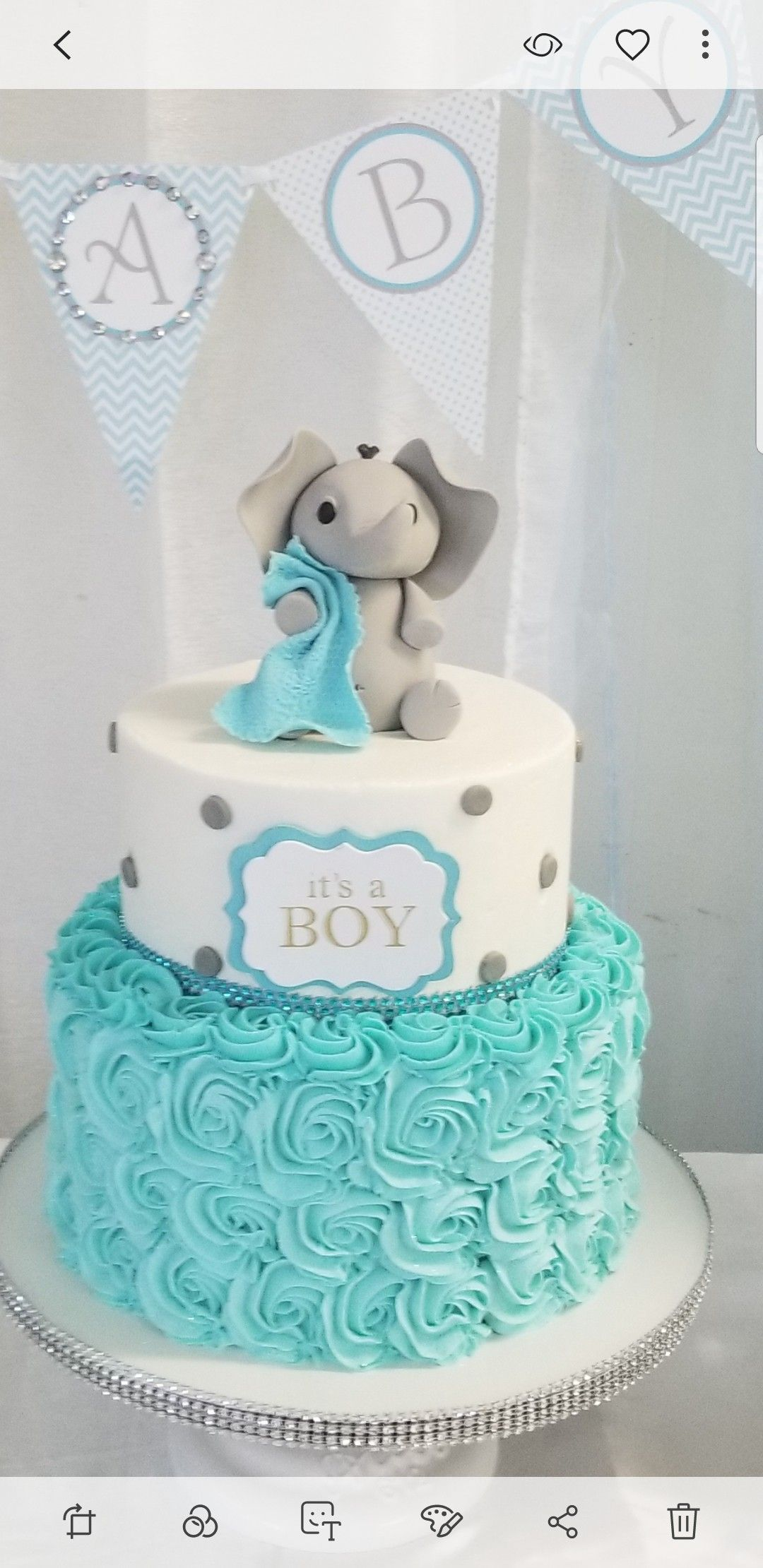 Elephant Baby Shower Cake Photo Elephant Baby Shower Cake