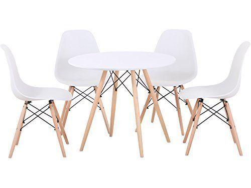 Tegan Seconique Esstisch Mit Natürlichem Holz Tisch Und 4