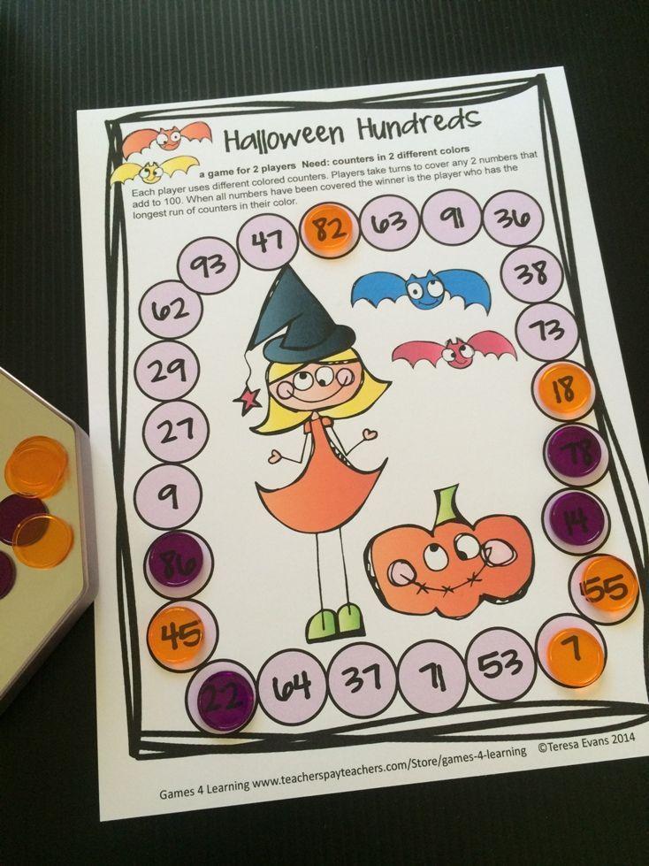 Halloween Math Games 2nd Grade Halloween Activities with