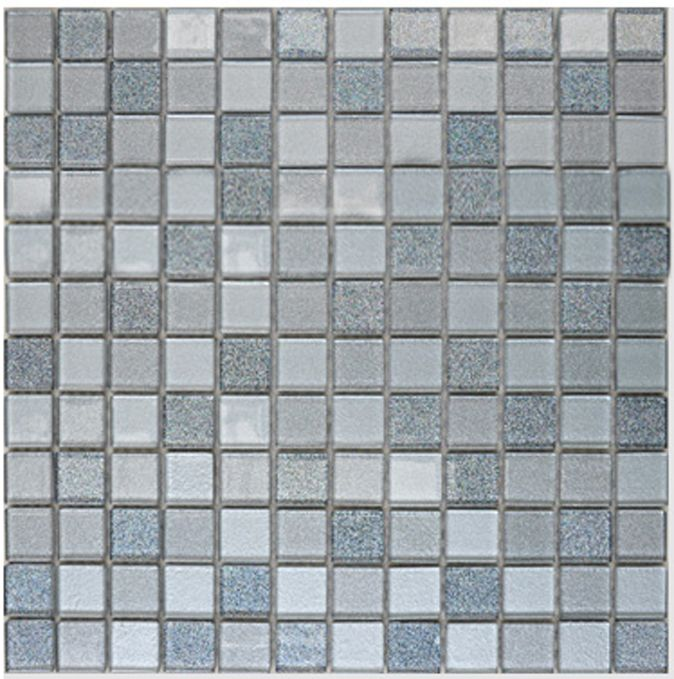 Gray Crystal Glass Mosaic Tiles Design Kitchen Bathroom Backsplash Inspiration Kitchen Wall Tiles Decorating Design