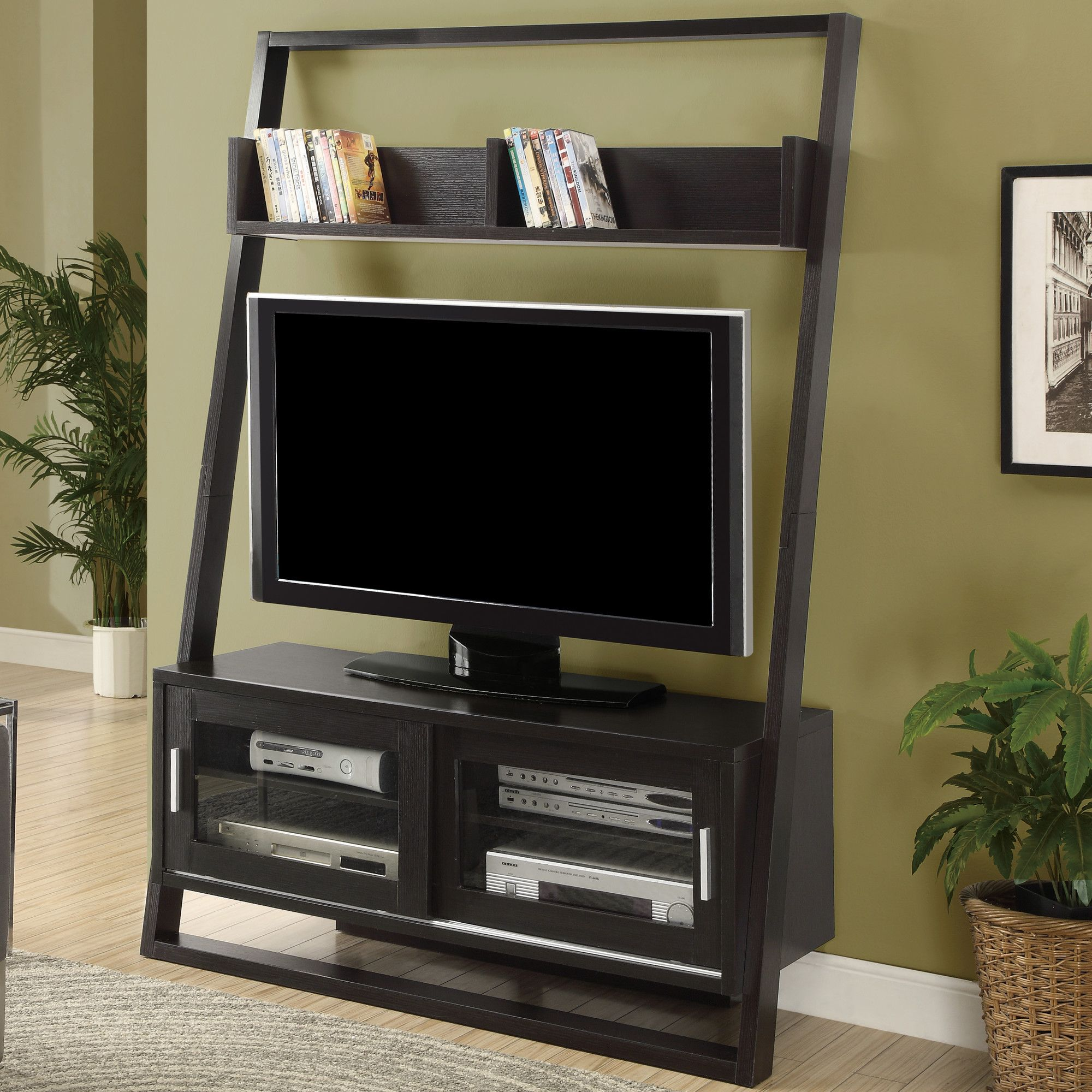 Ladder tv stands can be used for many different things and when time
