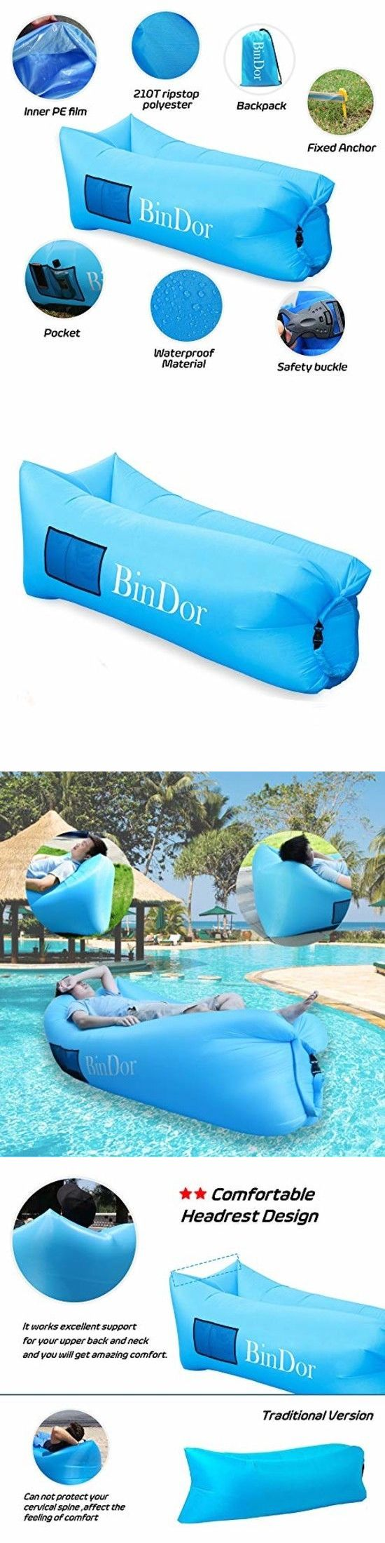 beanless sofa air chair white covers online bean bags and inflatables 48319 bindor inflatable lounger hammock bag couch lazy buy it now only 28 38 on ebay