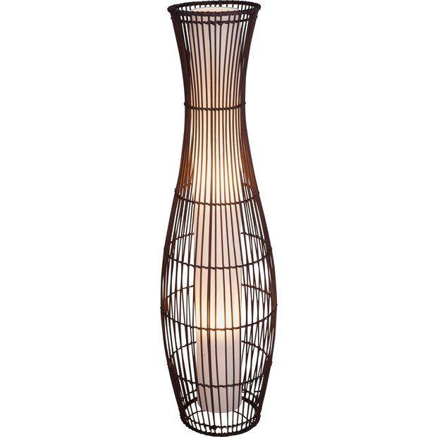 Buy Collection Sirit Rattan Floor Lamp Dark Brown At Argos Co Uk
