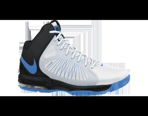 5df4ef7e4e442 MEN S NIKE AIR MAX FLYWIRE BASKETBALL SNEAKERS SIZE 12 WHITE PHOTO BLUE  BLACK  NIKE  BasketballShoes