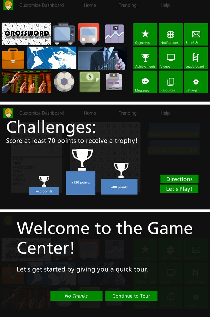 game center inspired by the xbox one this storyline template