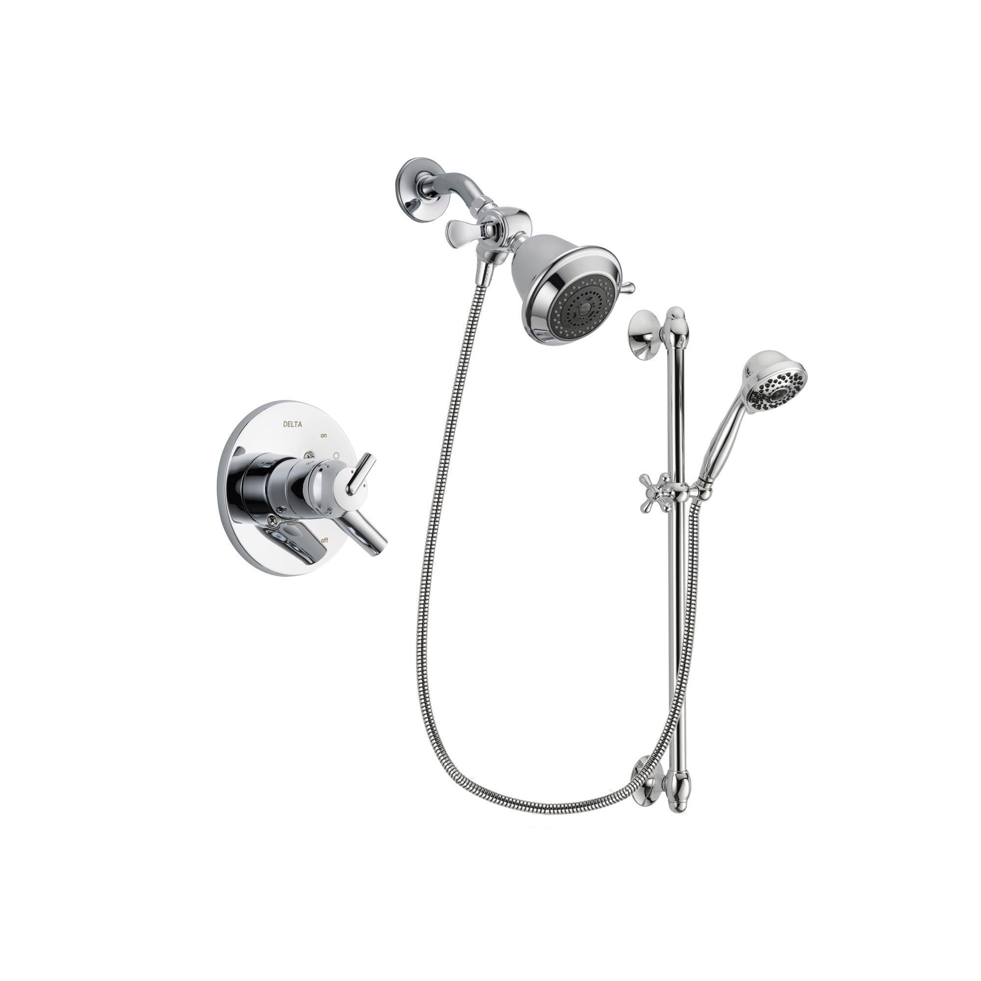 Delta Trinsic Chrome Shower Faucet System W Showerhead And Hand