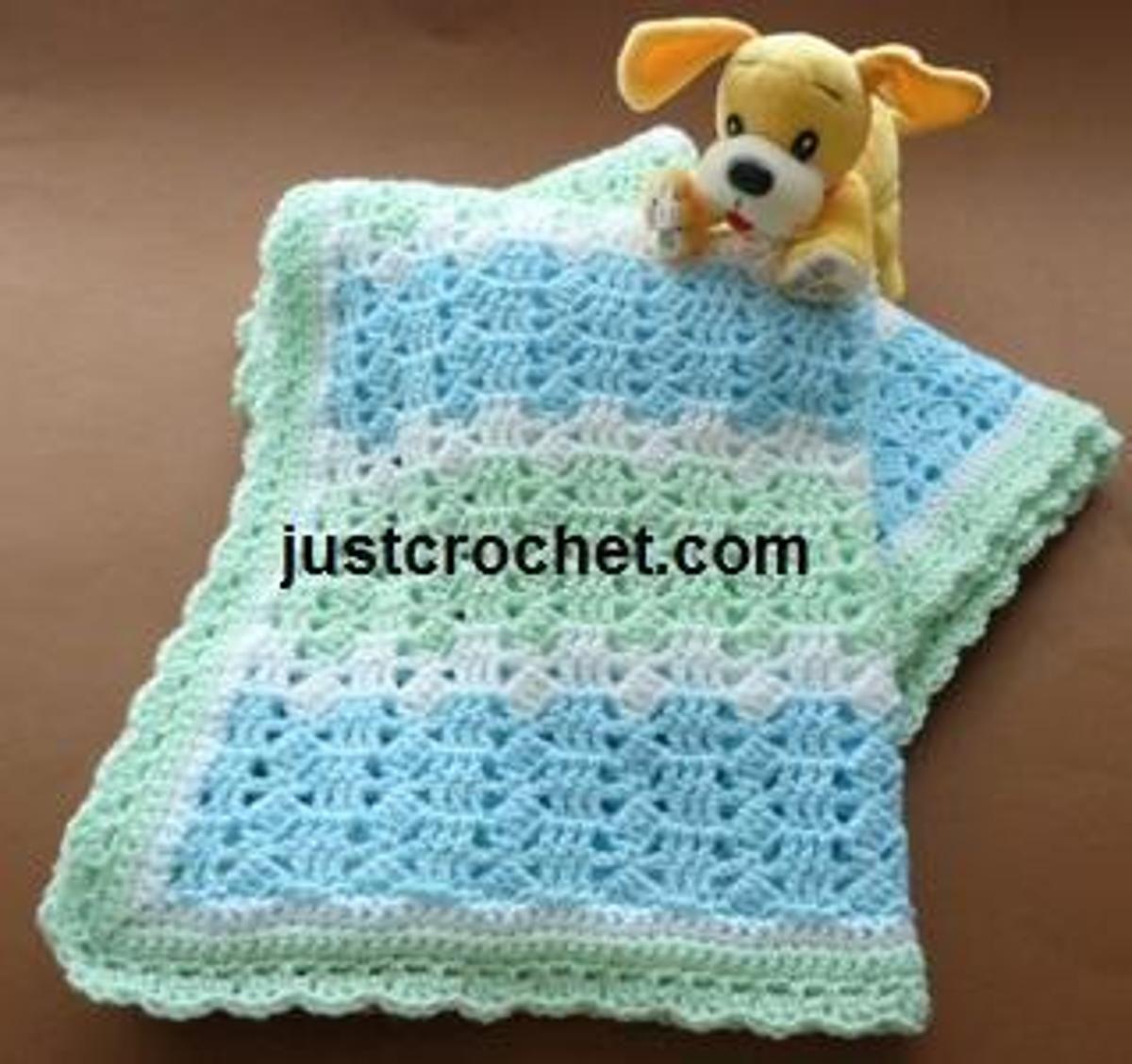 FJC39-Blanket Baby crochet pattern