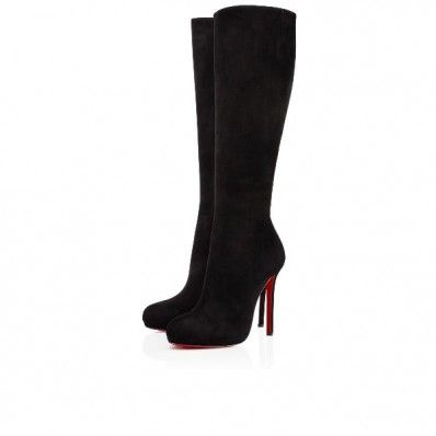 info for 25a7f 02228 Christian Louboutin botalili Black 120mm Suede Womens Tall ...