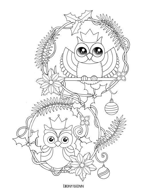 páginas para colorear gratis - Ebony rainn | natal | Pinterest ...