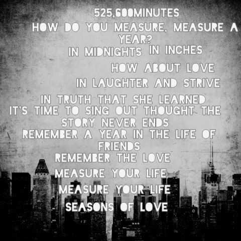 Seasons Of Love 3 Lyricart For Seasons Of Love By Rent Soundtrack Broadway Quotes Inspirational Quotes Music Lyrics