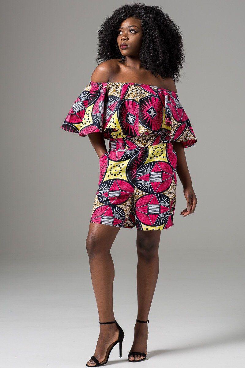 0c702937ad93 African romper dashiki romper Ankara romper african print