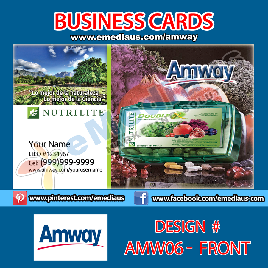 AMW06 - Front Design Business Card - 3.5\'\' x 2 | Amway Portfolio ...