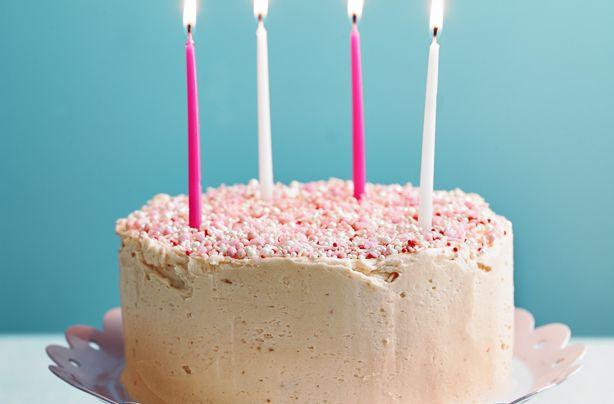 Excellent Nadiya Hussains Confetti Birthday Cake Recipe Confetti Funny Birthday Cards Online Eattedamsfinfo