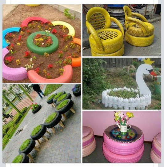 Decoracion hogar decoracion diy manualidades comunidad google tires tyres recycle - Manualidades hogar decoracion ...