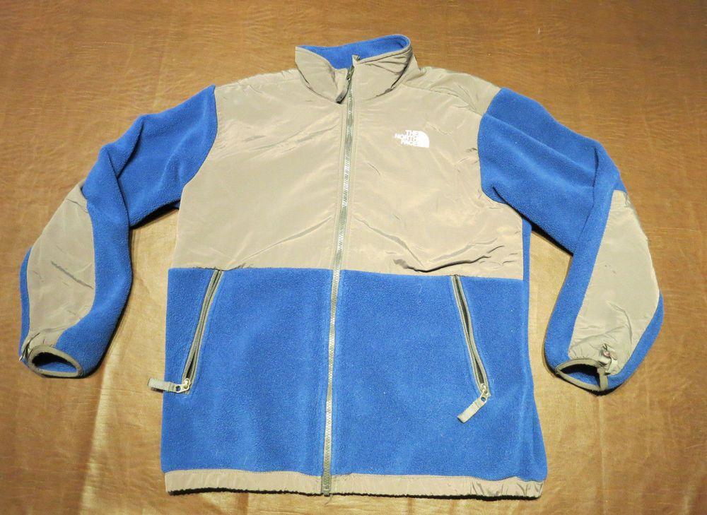 746b0a0e2 THE NORTH FACE Boys Denali Fleece Jacket Youth Sz XL Blue Gray ...