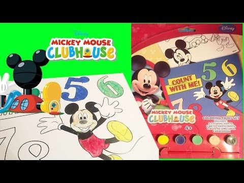 Mickey Mouse Clubhouse Colors Adventure Paint Set Numbers Toy Video Little Wishes Toysreview - YouTube