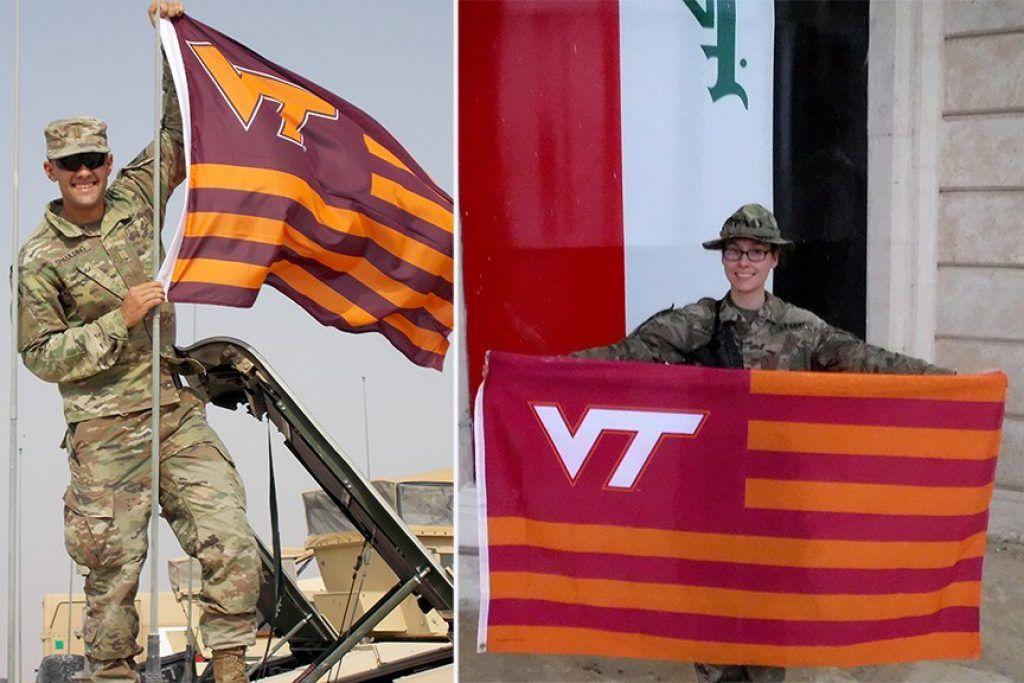 Corps of Cadets alumni 2nd Lt. Kevin Spaulding and 2nd Lt