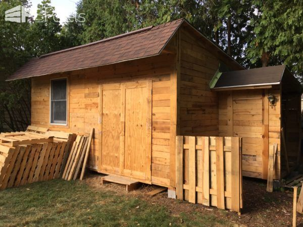 Outstanding 14x20-foot Shed Woodshop | Pallet Huts, Cabins