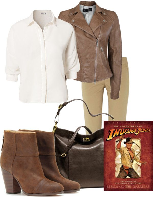 """Indiana Jones"" by busymom01 ❤ liked on Polyvore"