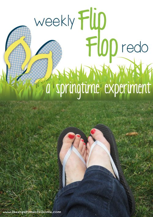 Redo a pair of cheap flip flops into your favorite spring shoes!