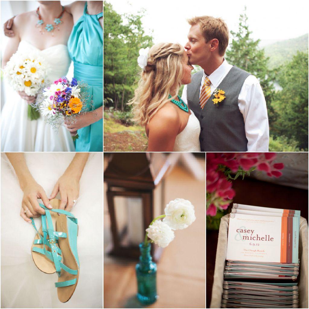 Lake Wedding Ideas: Turquoise Wedding, Turquoise