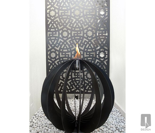 Outdoor sculpture and wall art by q design available from wg outdoor life perth