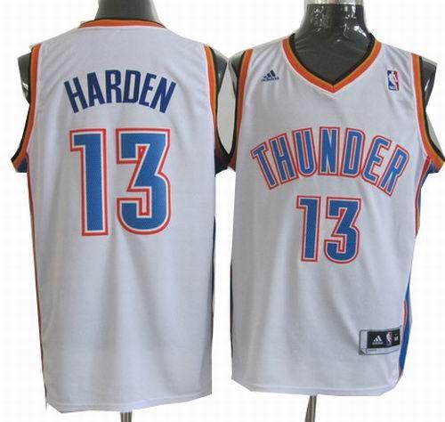 brand new ff673 a81b8 Oklahoma City Thunder #13 James Harden white Jerseys 19.5 ...