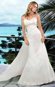 sweep train empire sweetheart satin gown style 5485  strandhochzeitskleid schöne brautkleider