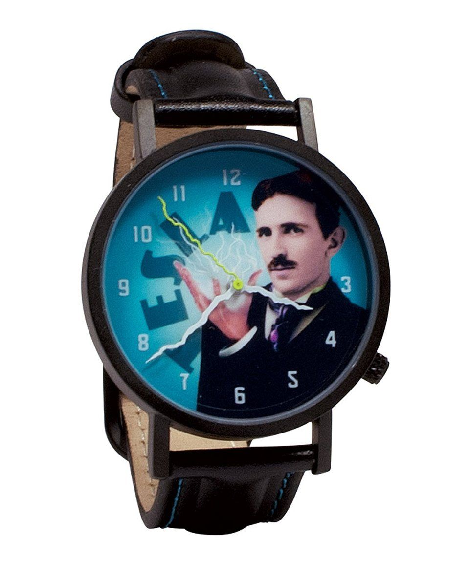 Take A Look At This Tesla Leather Band Watch Today