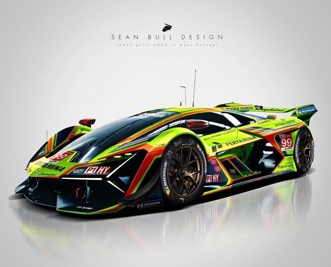5 931 Likes 23 Comments Sean Bull Design Seanbulldesign On Instagram 2021 Lamborghini Le Mans Hypercar Co In 2020 Le Mans Supercars Concept Racing Car Design